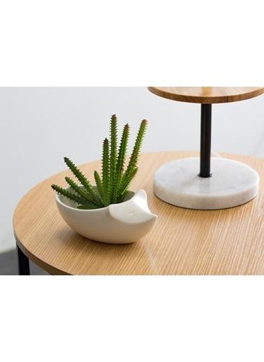 Warm Design Fare Figürlü Saksılık Beyaz